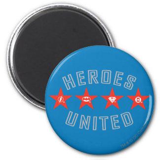 Justice League Heroes Untied Logos Magnet