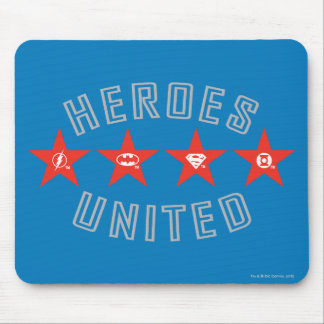 Justice League Heroes Untied Logos Mouse Pad
