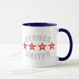 Justice League Heroes Untied Logos Mug