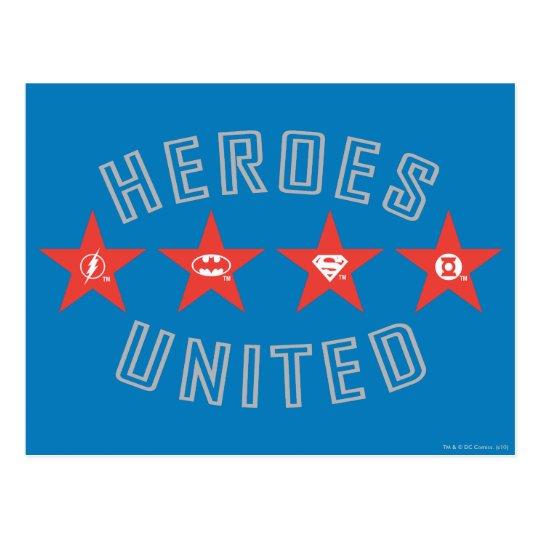Justice League Heroes Untied Logos Postcard