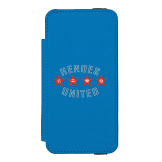 Justice League Heroes Untied Logos Wallet Case For iPhone SE/5/5s