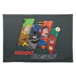 """Justice League """"Heroic Holidays!"""" Cloth Placemat"""