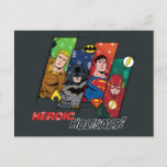 "Justice League ""Heroic Holidays!"" Holiday Postcard"