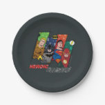 "Justice League ""Heroic Holidays!"" Paper Plate"