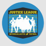 Justice League Intergalactic Patrol Classic Round Sticker