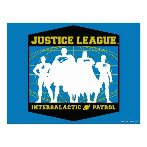 Justice League Intergalactic Patrol Postcard