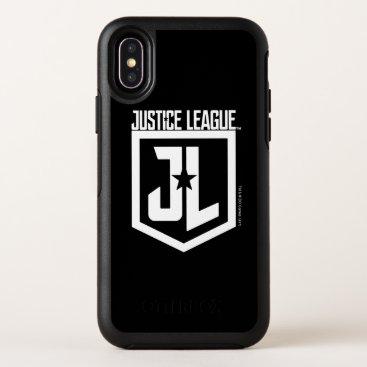 Justice League   JL Shield OtterBox Symmetry iPhone X Case