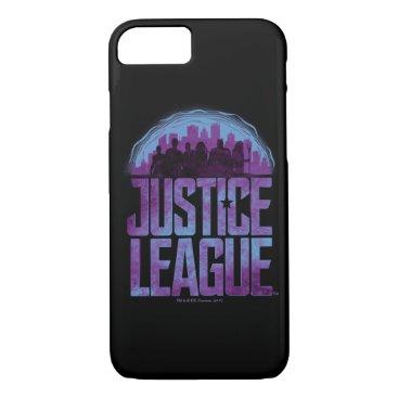 Justice League   Justice League City Silhouette iPhone 8/7 Case