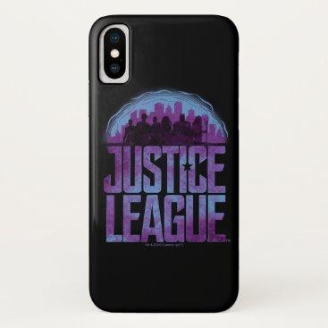 Justice League   Justice League City Silhouette iPhone X Case