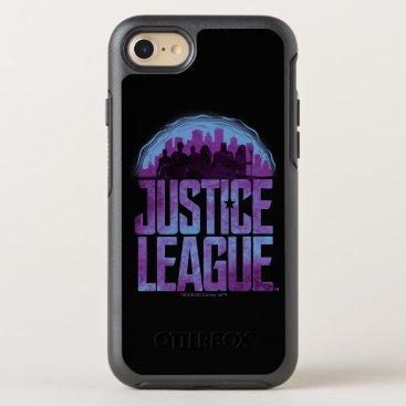 Justice League   Justice League City Silhouette OtterBox Symmetry iPhone 8/7 Case