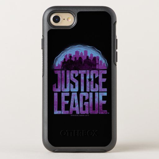 Justice League | Justice League City Silhouette OtterBox Symmetry iPhone SE/8/7 Case