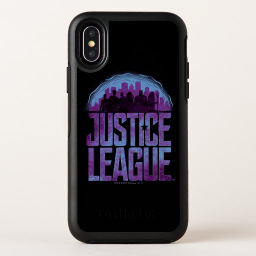 Justice League | Justice League City Silhouette OtterBox Symmetry iPhone X Case