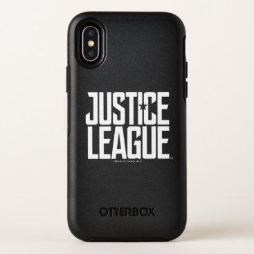 Justice League   Justice League Logo OtterBox Symmetry iPhone X Case
