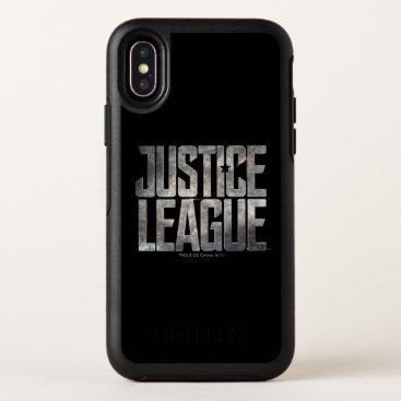 Justice League   Justice League Metallic Logo OtterBox Symmetry iPhone X Case