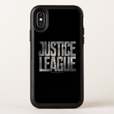 Justice League | Justice League Metallic Logo OtterBox Symmetry iPhone X Case
