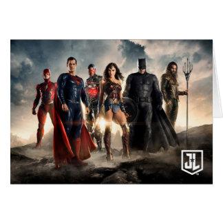 Justice League   Justice League On Battlefield Card