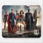 "Justice League | Justice League On Battlefield Mouse Pad<br><div class=""desc"">Check out the Justice League on a mist filled,  rocky terrain. The sun dawns behind our hereos: The Flash,  Superman,  Cyborg,  Wonder Woman,  Batman,  and Aquaman.</div>"