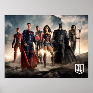 Justice League | Justice League On Battlefield Poster
