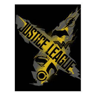 Justice League   Justice League & Team Symbols Postcard
