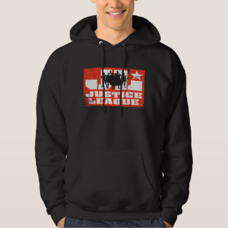 Justice League Logo and Character Silhouettes Hoodie