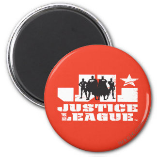 Justice League Logo and Character Silhouettes Magnet