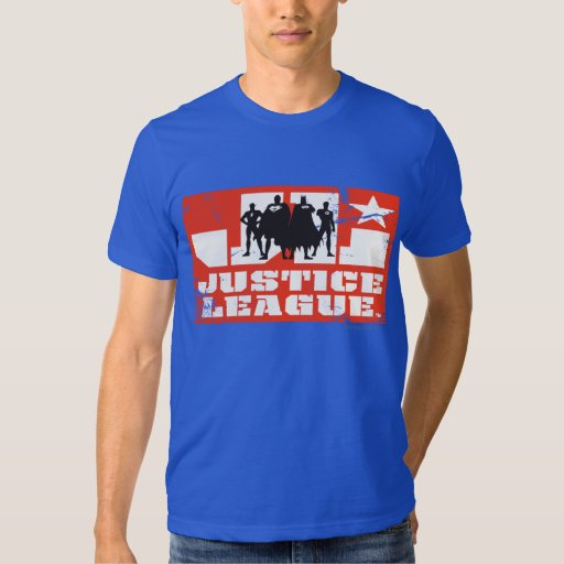 Justice League Logo and Character Silhouettes Shirt