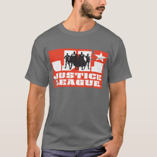 Justice League Logo and Character Silhouettes T-Shirt