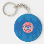 Justice League Logo and Solid Character Background Basic Round Button Keychain