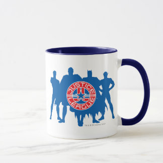 Justice League Logo and Solid Character Background Mug