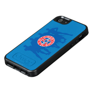 Justice League Logo and Solid Character Background OtterBox iPhone 5/5s/SE Case