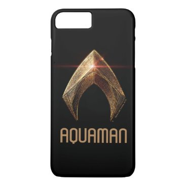 Justice League | Metallic Aquaman Symbol iPhone 8 Plus/7 Plus Case