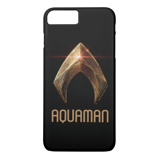 Justice League | Metallic Aquaman Symbol iPhone 8 Plus/7 Plus Case