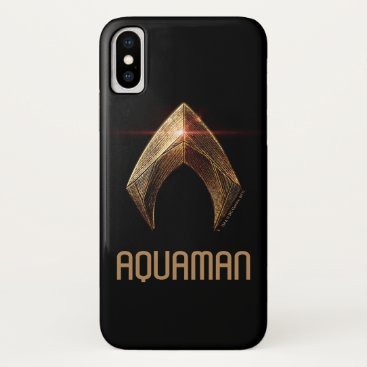 Justice League | Metallic Aquaman Symbol iPhone X Case