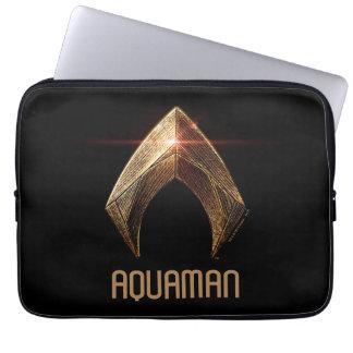 Justice League | Metallic Aquaman Symbol Computer Sleeve