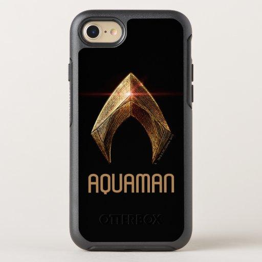 Justice League | Metallic Aquaman Symbol OtterBox Symmetry iPhone SE/8/7 Case