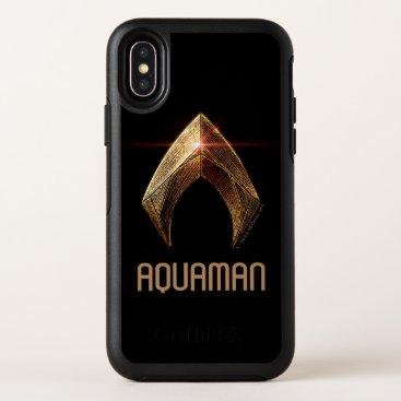 Justice League   Metallic Aquaman Symbol OtterBox Symmetry iPhone X Case