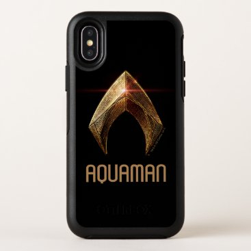 Justice League | Metallic Aquaman Symbol OtterBox Symmetry iPhone X Case