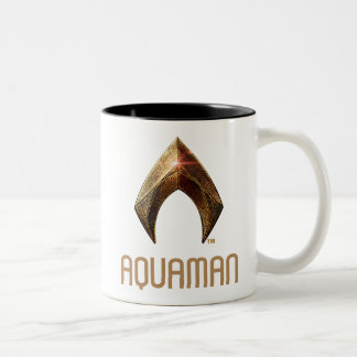 Justice League | Metallic Aquaman Symbol Two-Tone Coffee Mug