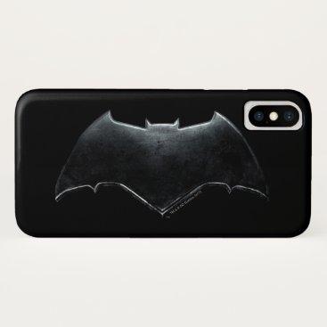 Justice League | Metallic Batman Symbol iPhone X Case