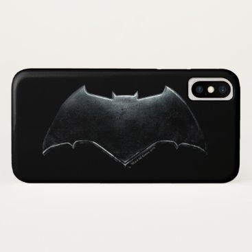 Justice League | Metallic Batman Symbol iPhone X Case