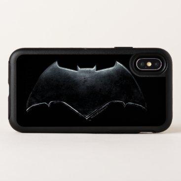Justice League | Metallic Batman Symbol OtterBox Symmetry iPhone X Case