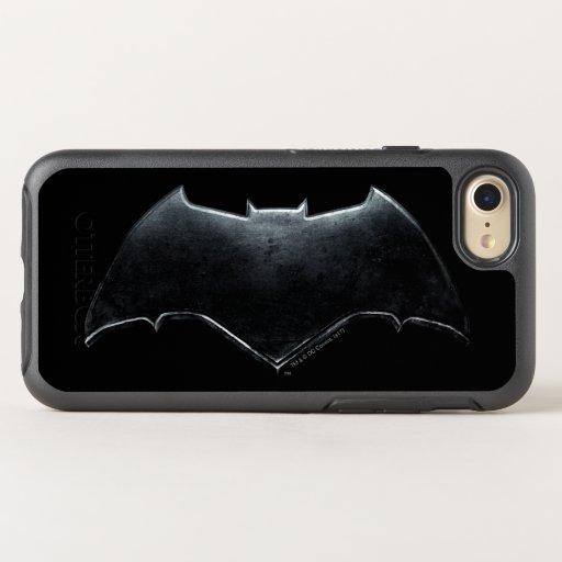 Justice League | Metallic Batman Symbol OtterBox Symmetry iPhone 8/7 Case