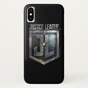 Justice League   Metallic JL Shield iPhone X Case
