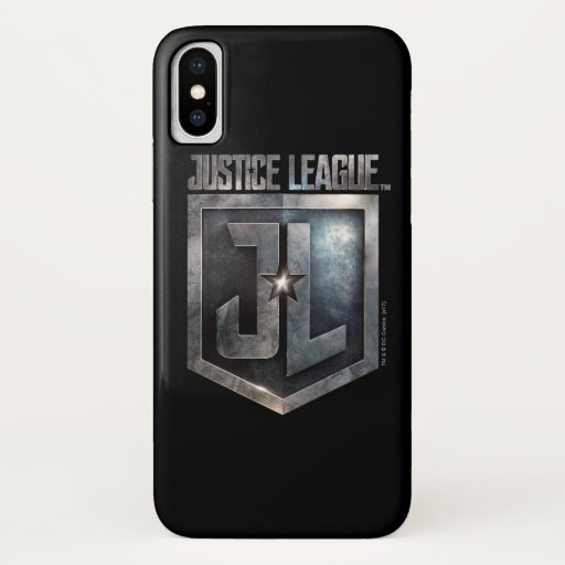 Justice League | Metallic JL Shield iPhone X Case