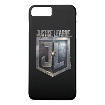Justice League   Metallic JL Shield iPhone 8 Plus/7 Plus Case