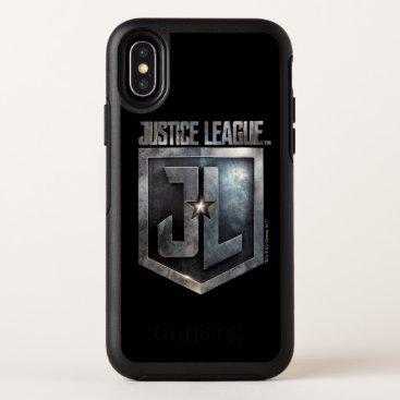 Justice League   Metallic JL Shield OtterBox Symmetry iPhone X Case
