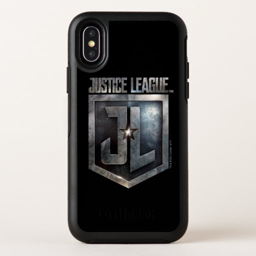 Justice League | Metallic JL Shield OtterBox Symmetry iPhone X Case