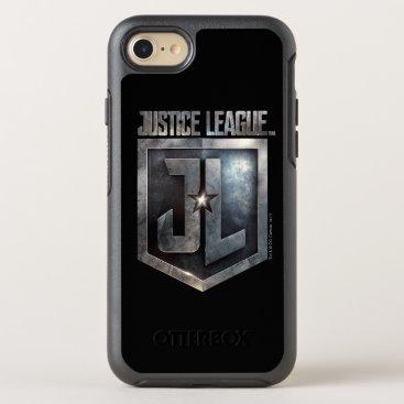 Justice League   Metallic JL Shield OtterBox Symmetry iPhone 8/7 Case