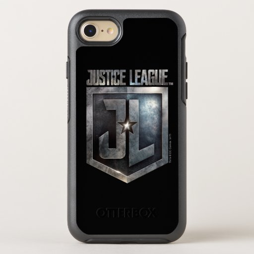 Justice League | Metallic JL Shield OtterBox Symmetry iPhone SE/8/7 Case