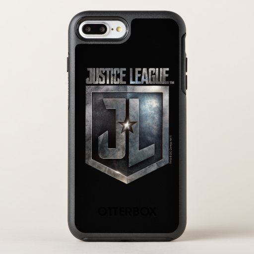 Justice League | Metallic JL Shield OtterBox Symmetry iPhone 8 Plus/7 Plus Case
